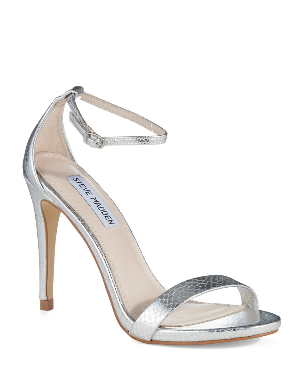 Find silver strappy heels at Macy's Macy's Presents: The Edit - A curated mix of fashion and inspiration Check It Out Free Shipping with $49 purchase + Free Store Pickup.