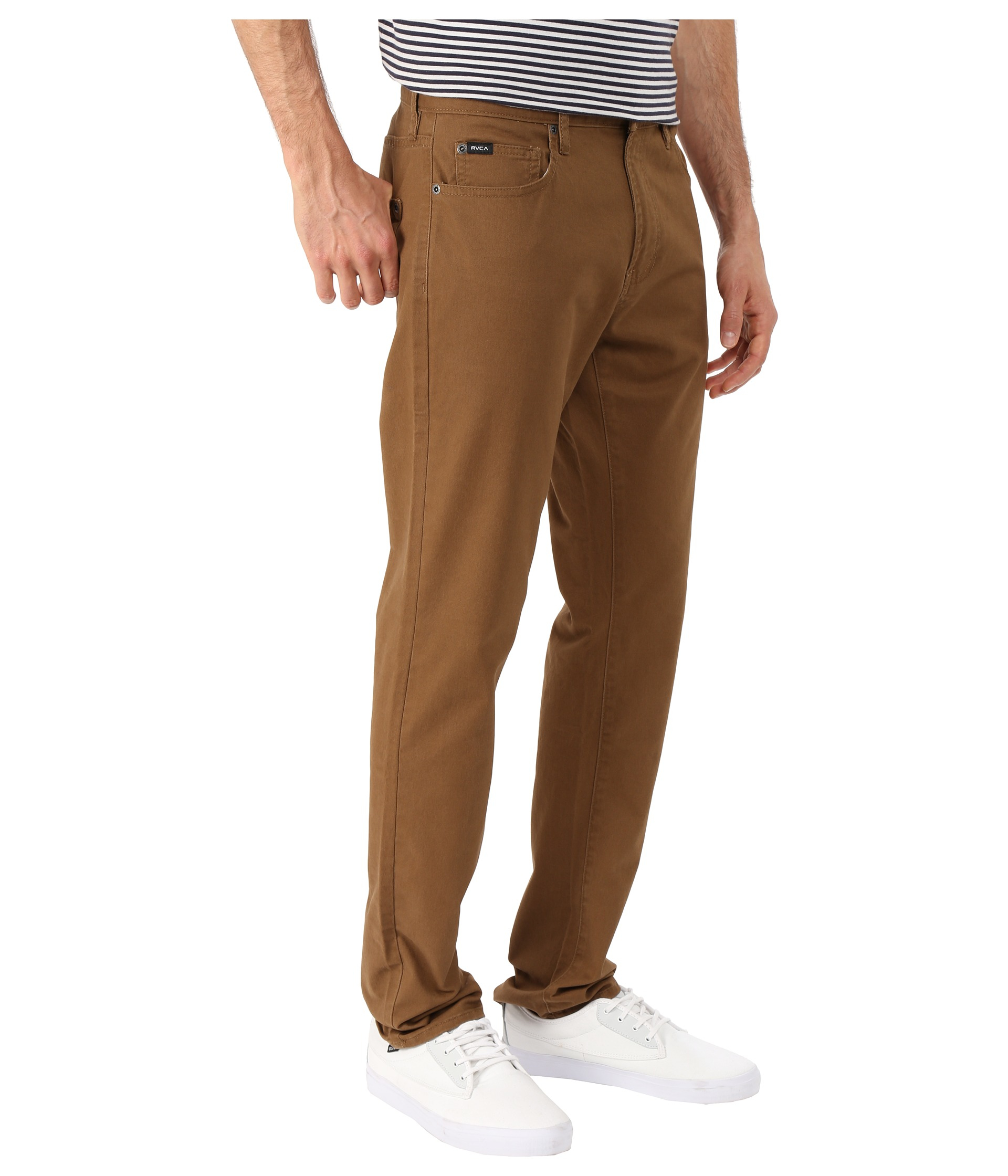 Rvca Daggers Twill Pants in Brown for Men | Lyst