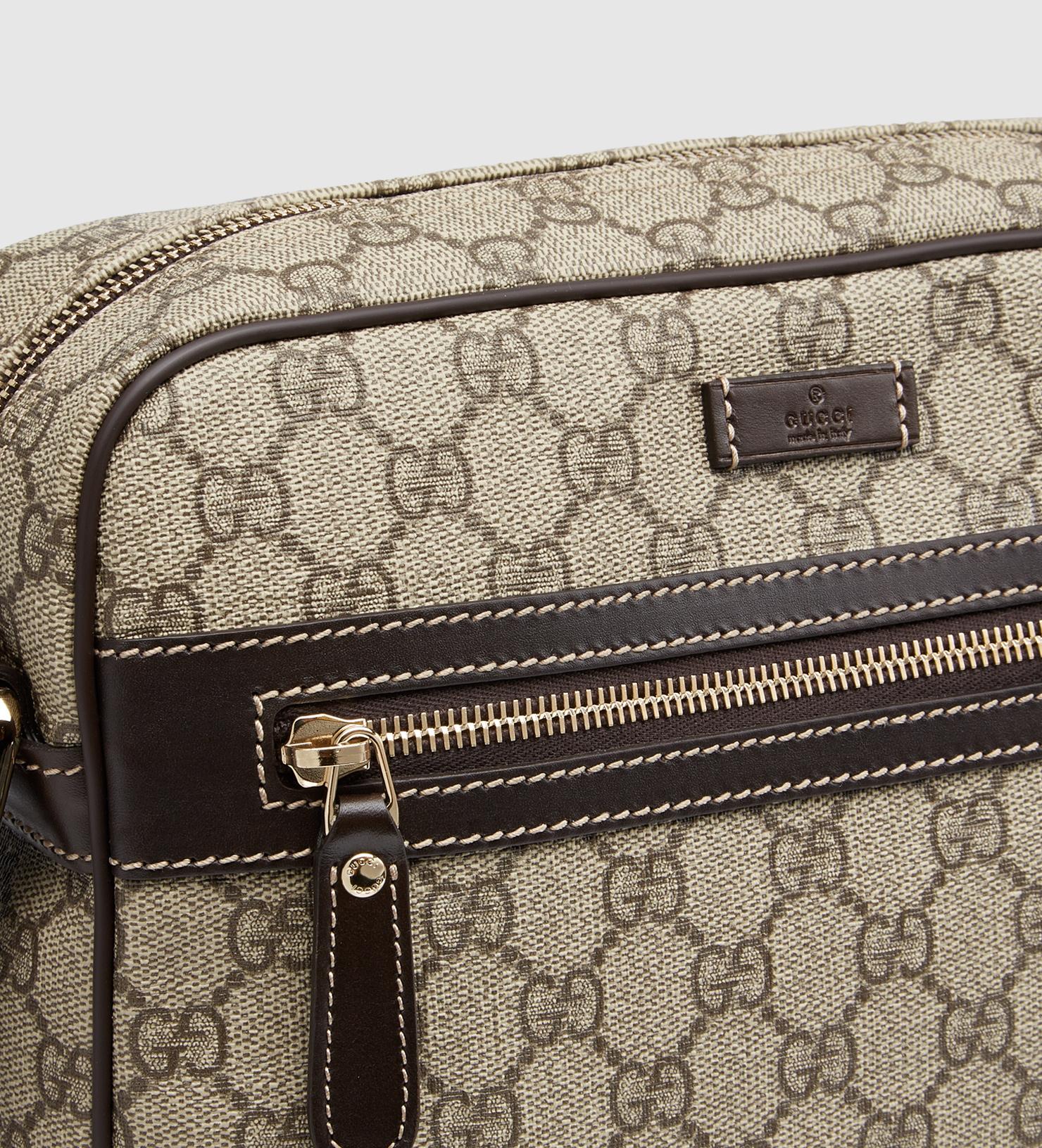 6757bd1ef36 Gucci Gg Supreme Shoulder Bag in Brown for Men - Lyst