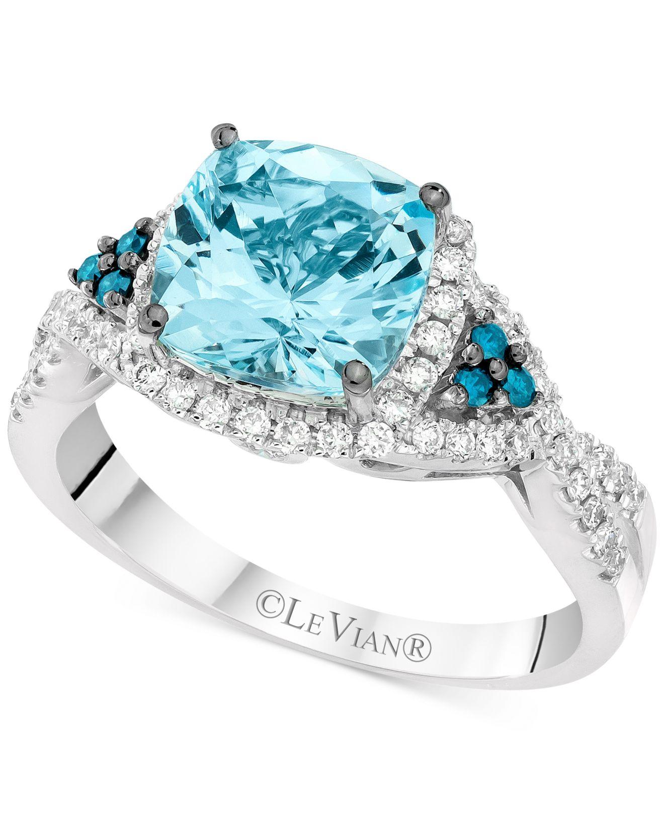 Le vian Exotics Aquamarine 1 3 8 Ct T w And Diamond 1 3 Ct