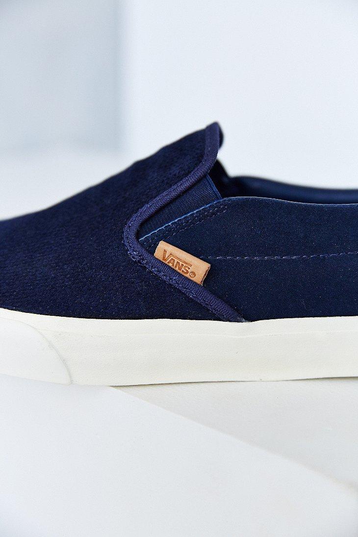 f69725a4a8 Lyst - Vans Classic California Knit Suede Slip-On Men S Sneaker in ...