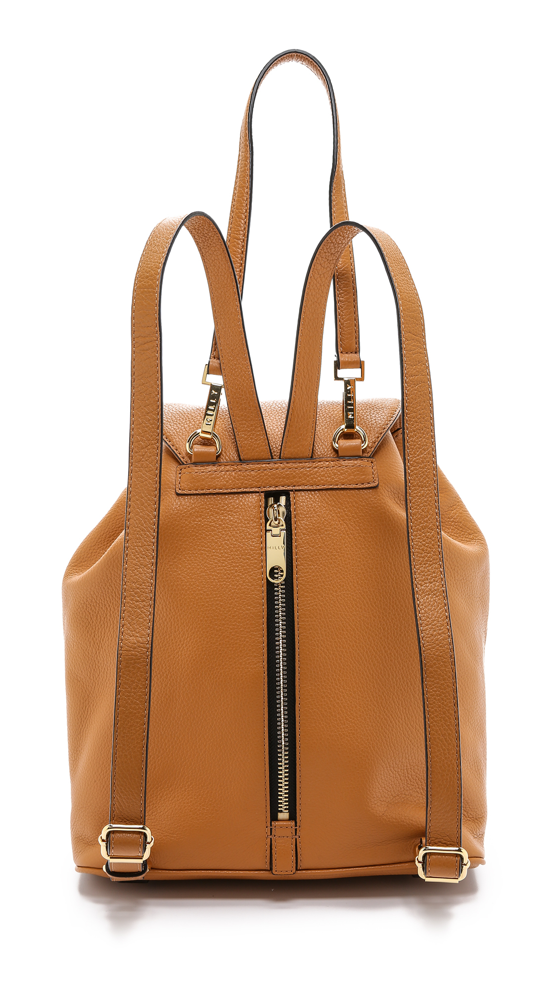 MILLY Astor Backpack - Black in Caramel (Brown)