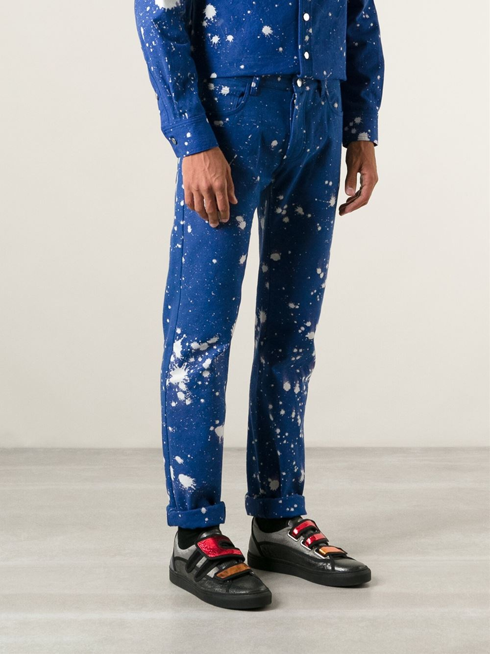 Raf Simons Sterling Ruby Bleached Skinny Jeans in Blue for Men
