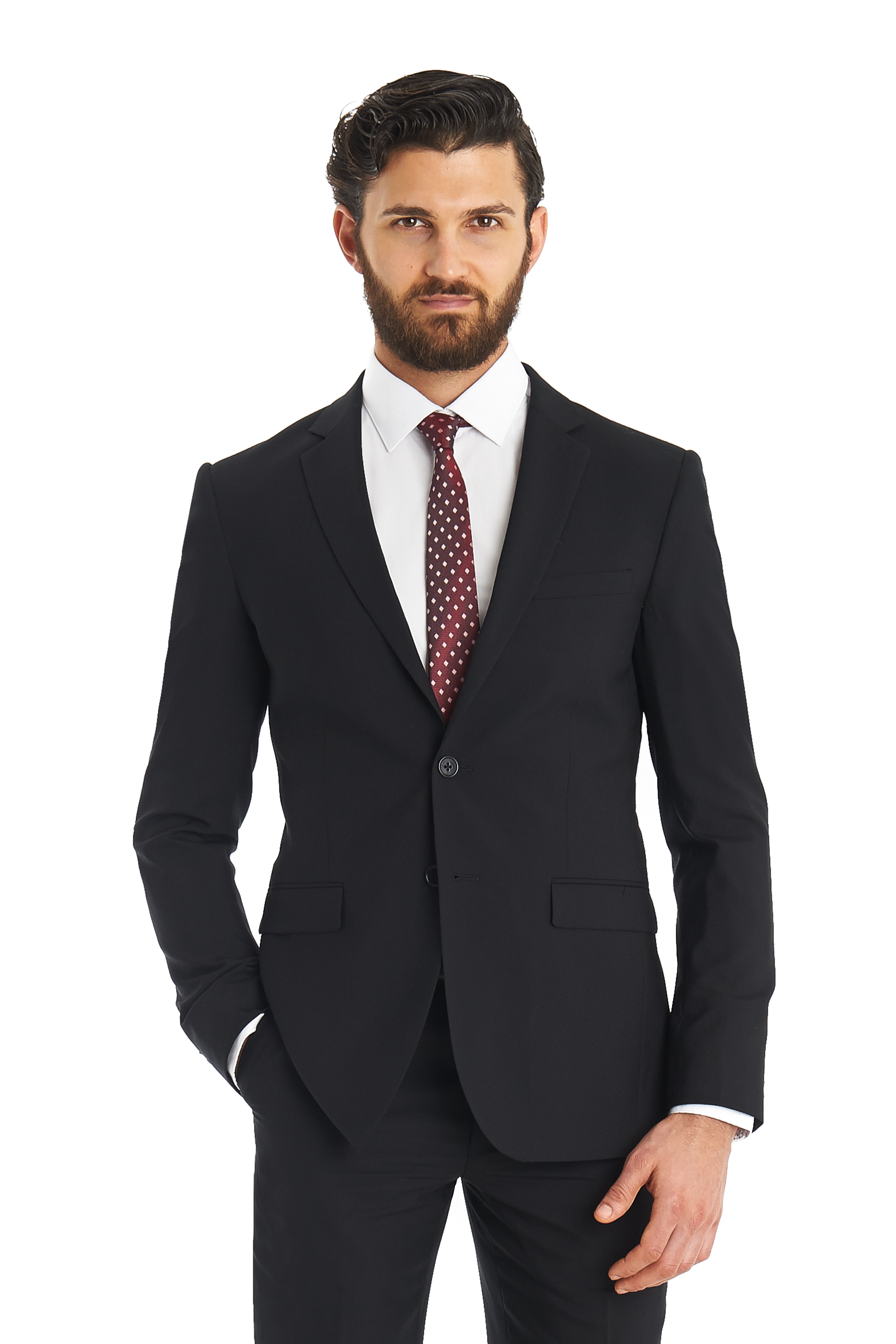 Dkny Slim Fit Black 2 Piece Suit in Black for Men | Lyst