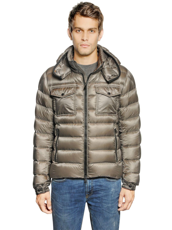 Moncler Edward Nylon Down Jacket In Grey Gray For Men Lyst