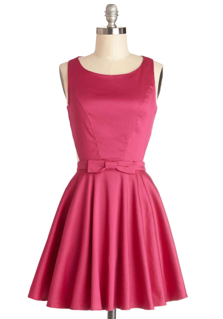 Modcloth Classic Twist Dress In Magenta In Pink Lyst