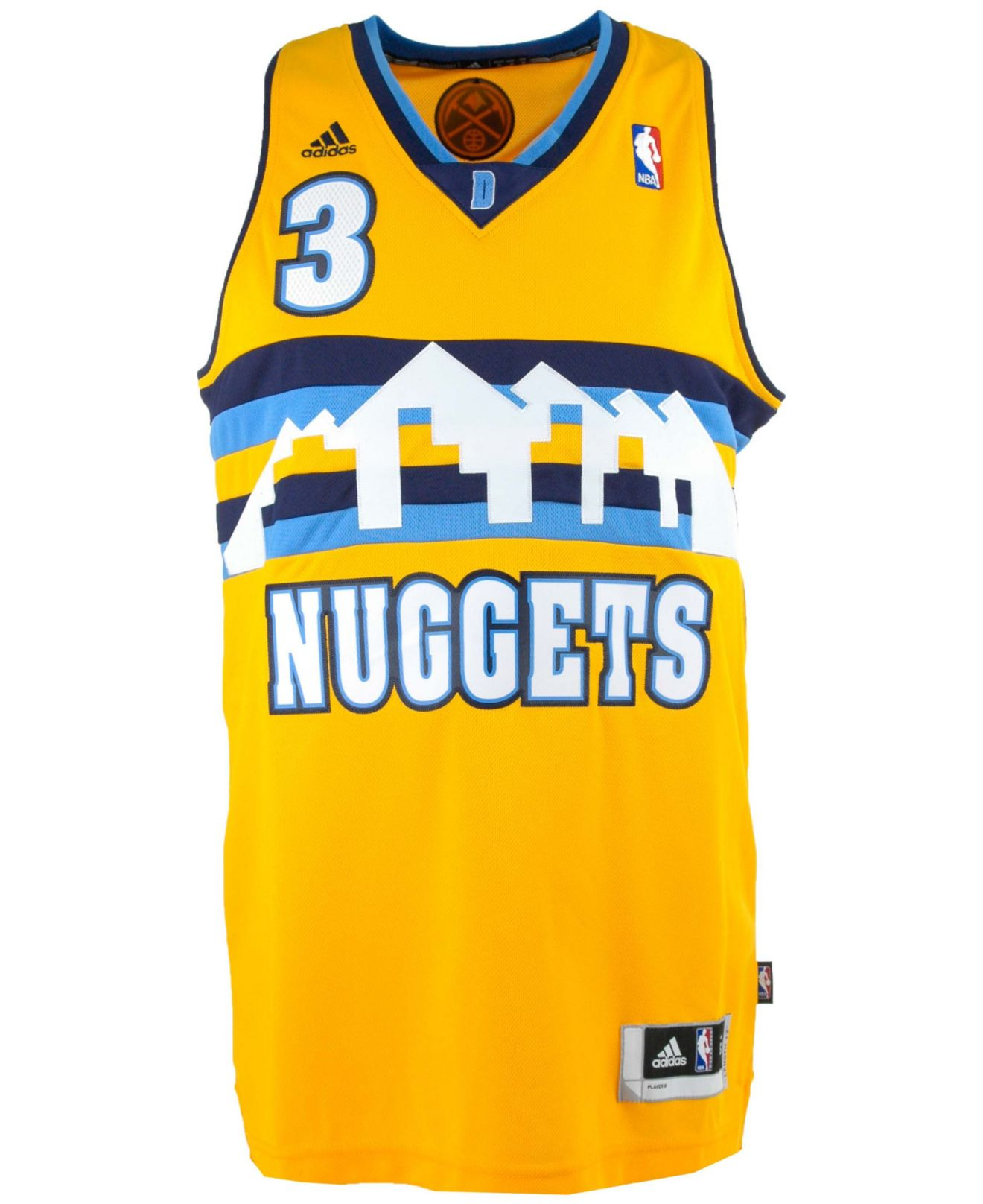 Adidas Denver Nuggets 3 Stripe Jacket: Adidas Men's Ty Lawson Denver Nuggets Swingman