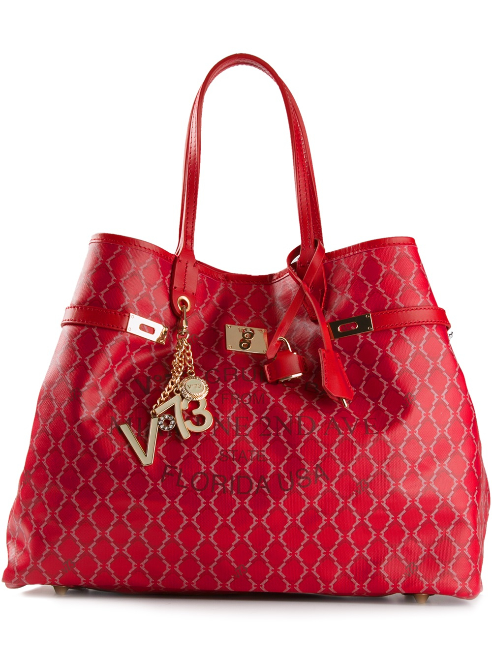 bf43b15c4ec7 V73  Miami  Tote in Red - Lyst