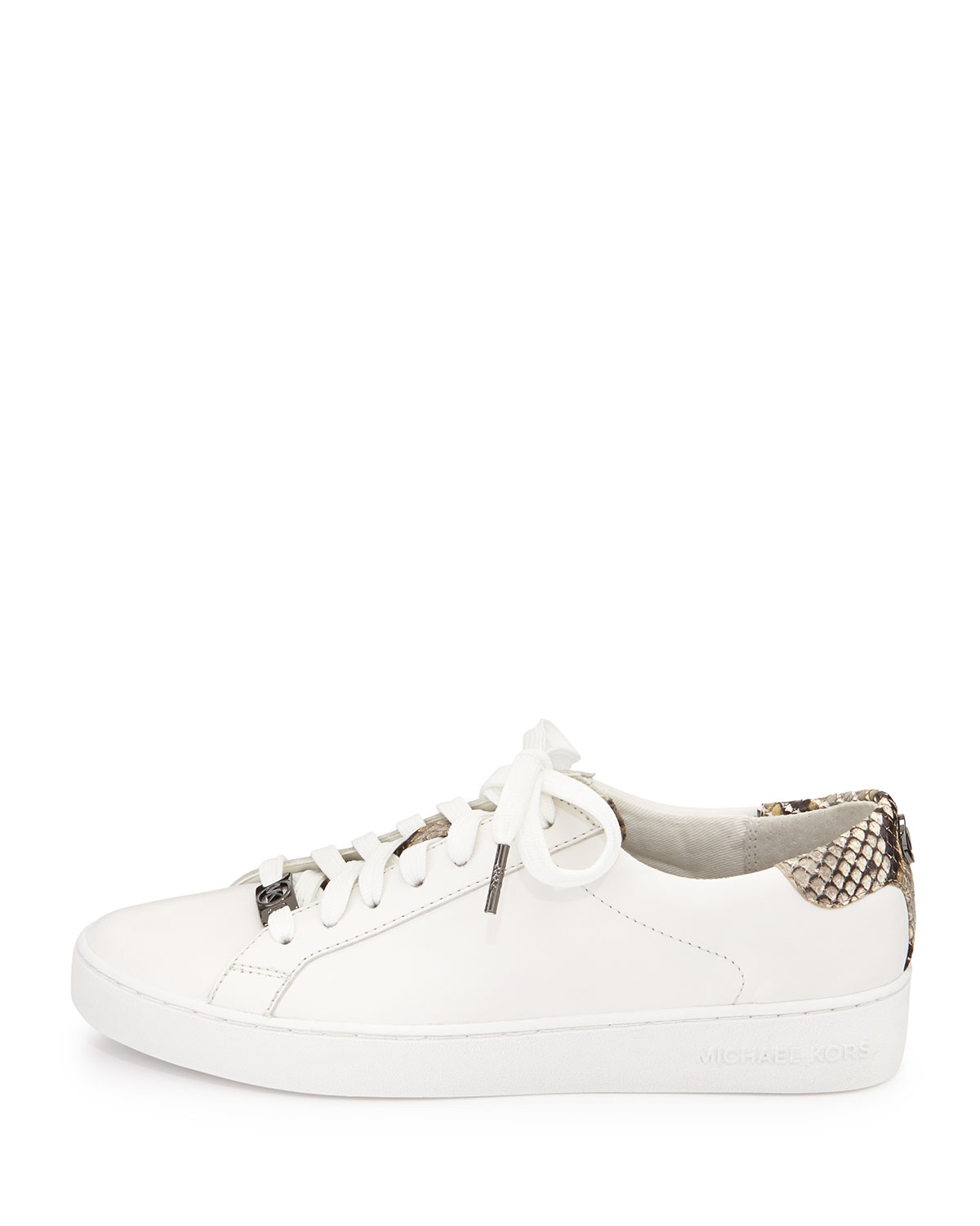 7087bed8b593 Lyst - MICHAEL Michael Kors Irving Leather Lace-Up Sneaker in White