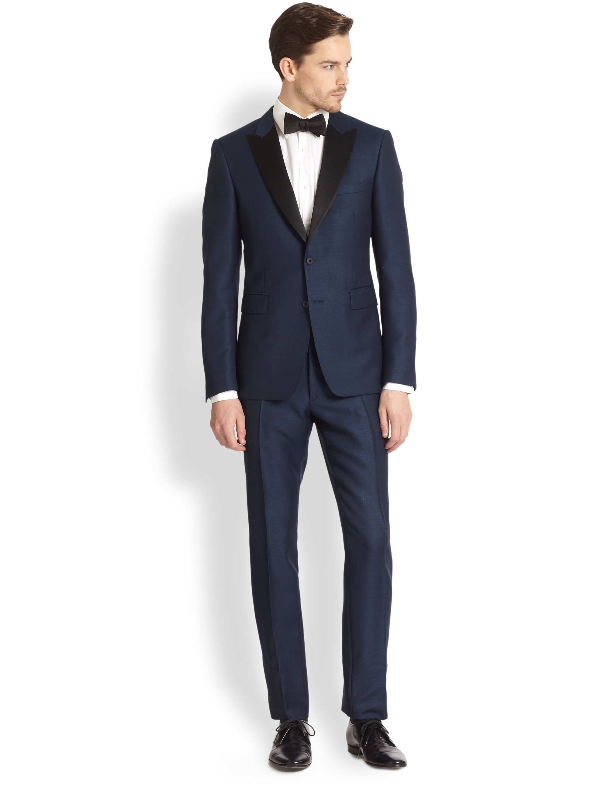 Burberry Sutherland Shawl-collar Tuxedo in Blue for Men | Lyst