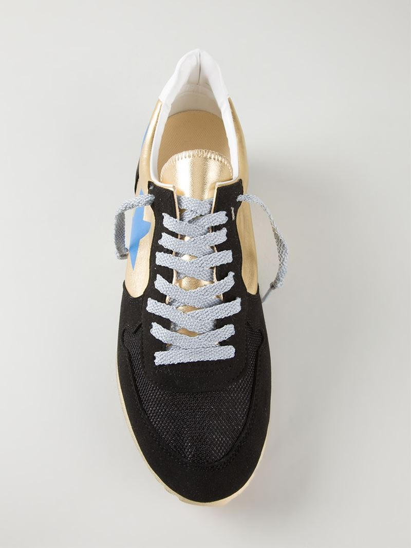 Haus By Golden Goose Deluxe Brand Lace Up Retro Sneakers in Black