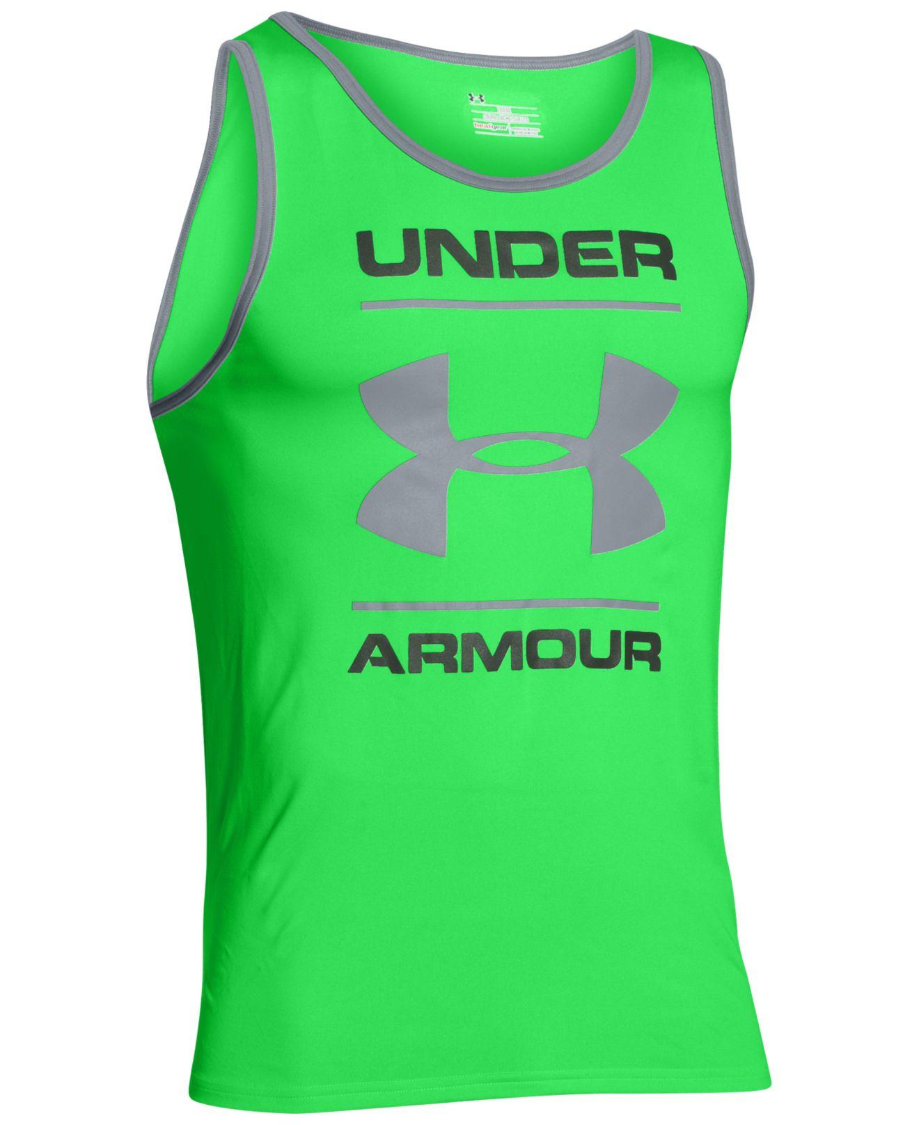 715e27d94f Under Armour Green Men's Ua Tech Tank Top for men
