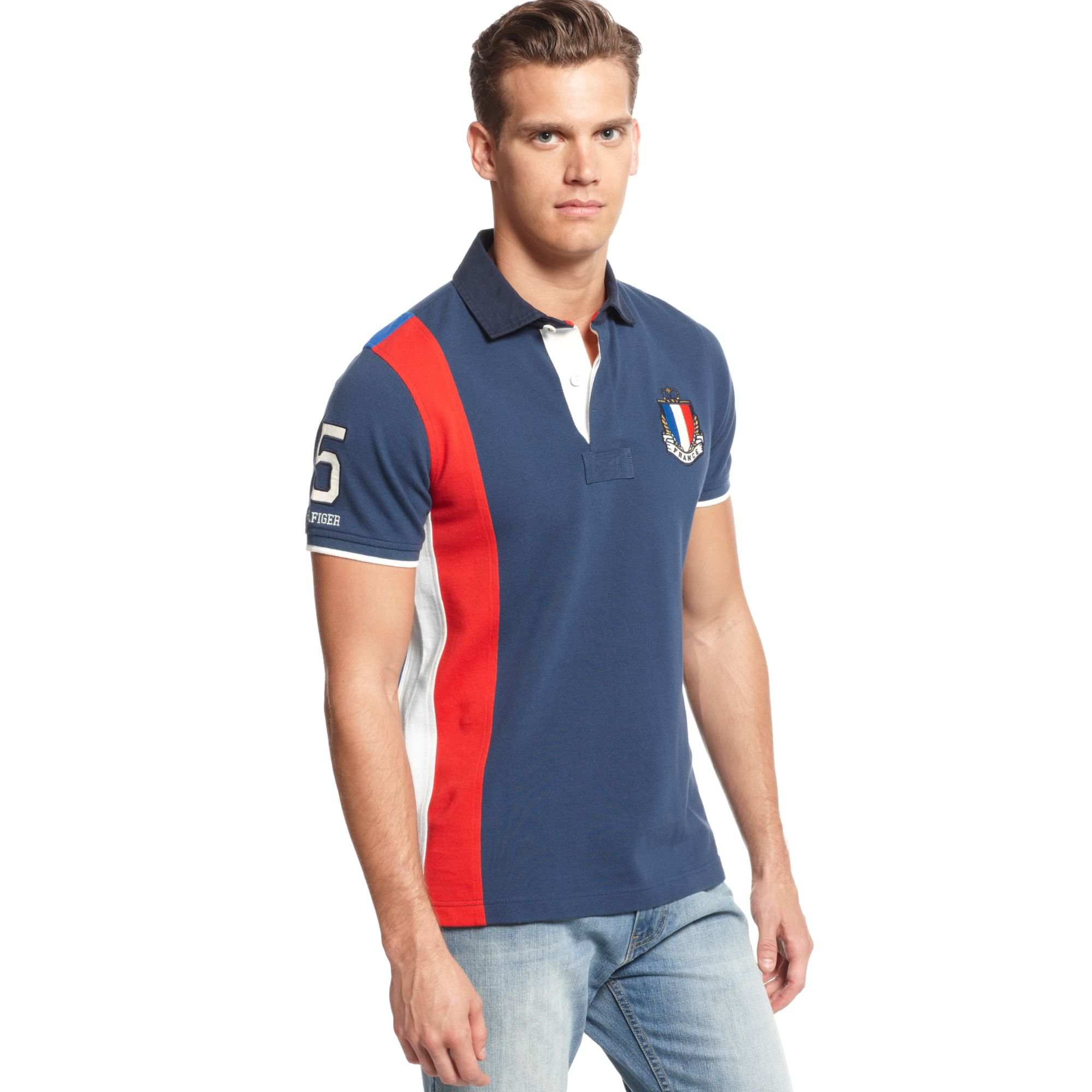Lyst - Tommy Hilfiger France World Cup Slimfit Polo European ... 453df3b572f3