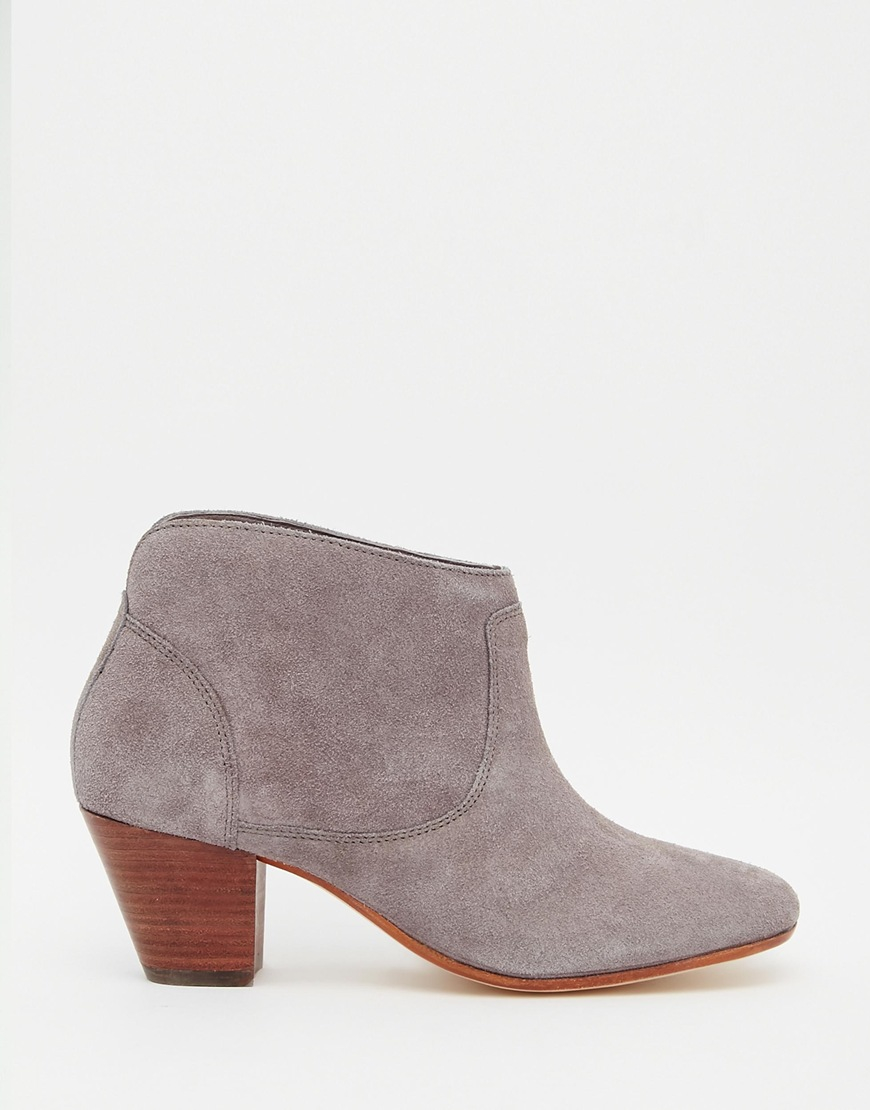 h by hudson kivar grey suede ankle boots grey in brown