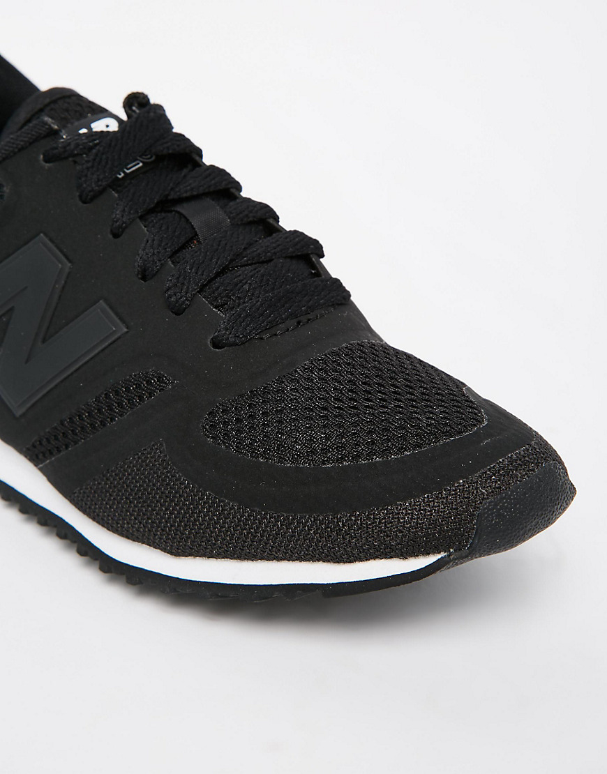 new balance black 420 microfiber trainers