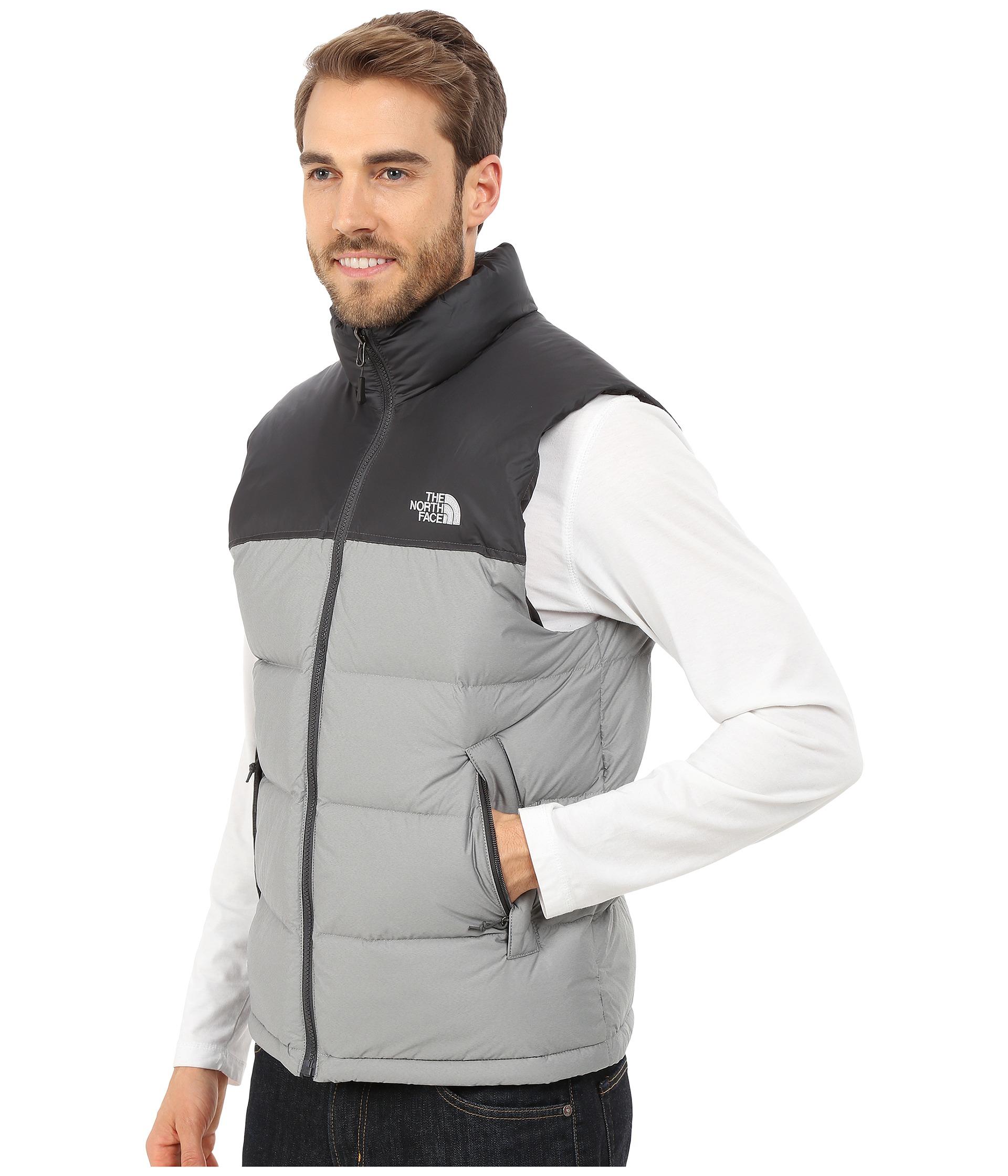 Lyst - The North Face Nuptse Vest in Gray for Men 016039c0e
