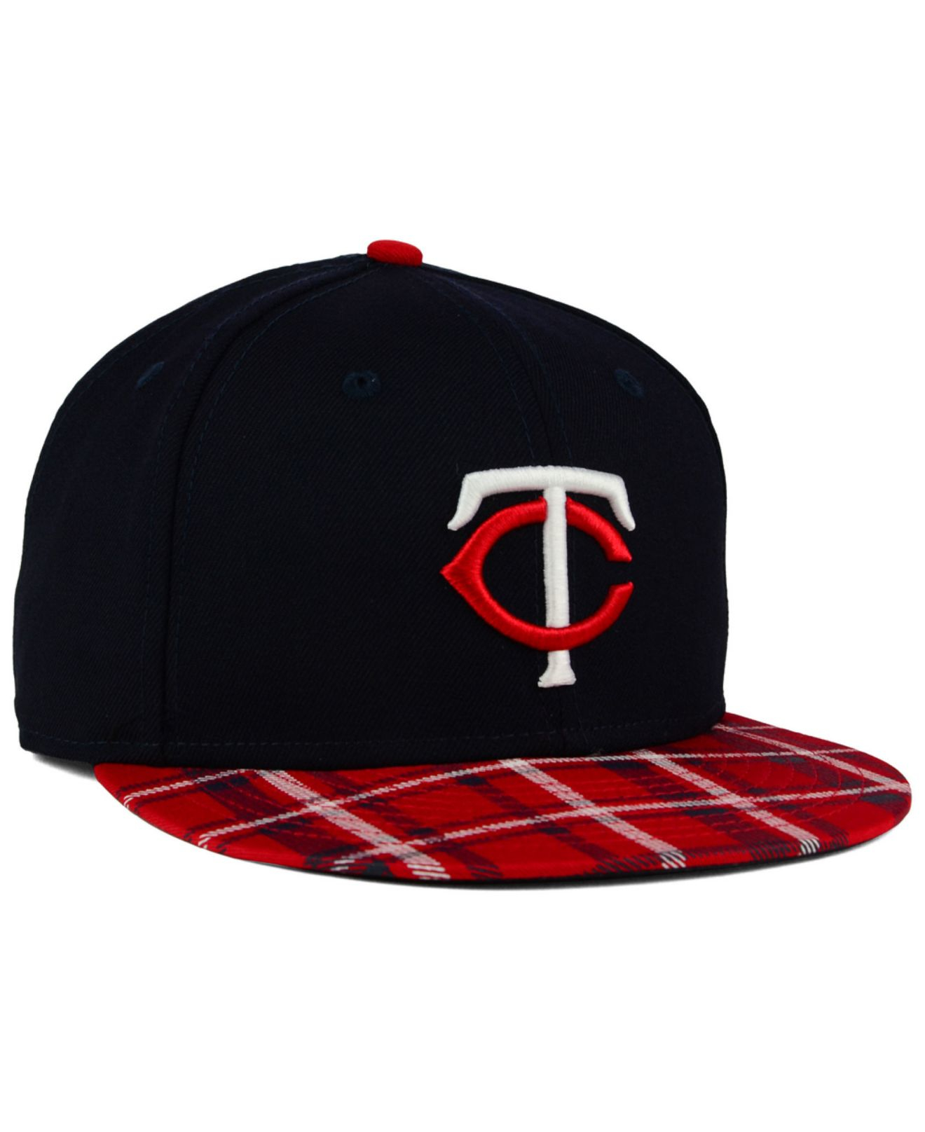 cheap for discount a7cba 0bd5f ... promo code lyst ktz minnesota twins plaid 9fifty snapback cap in blue  for men 3a4e2 4248c