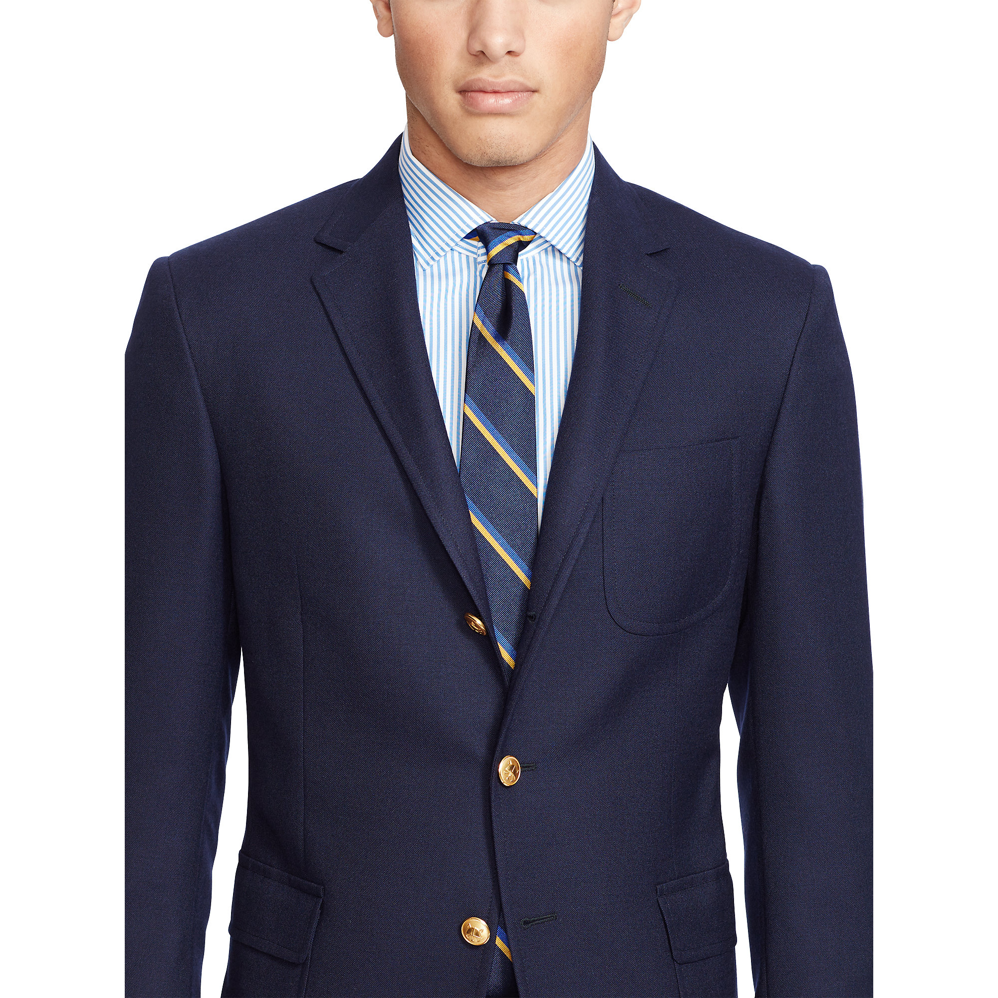 polo ralph lauren polo wool hopsack sport coat in blue for men lyst. Black Bedroom Furniture Sets. Home Design Ideas