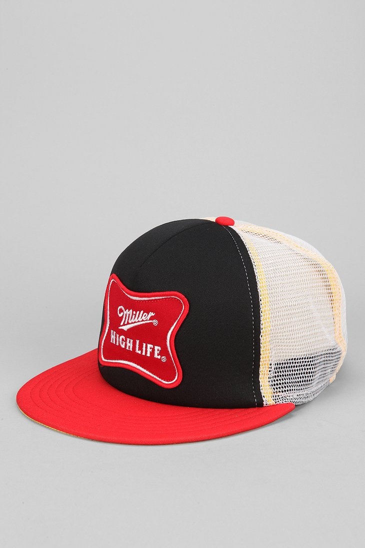 6bbeb3ce7 Urban Outfitters Red Miller High Life Trucker Hat for men