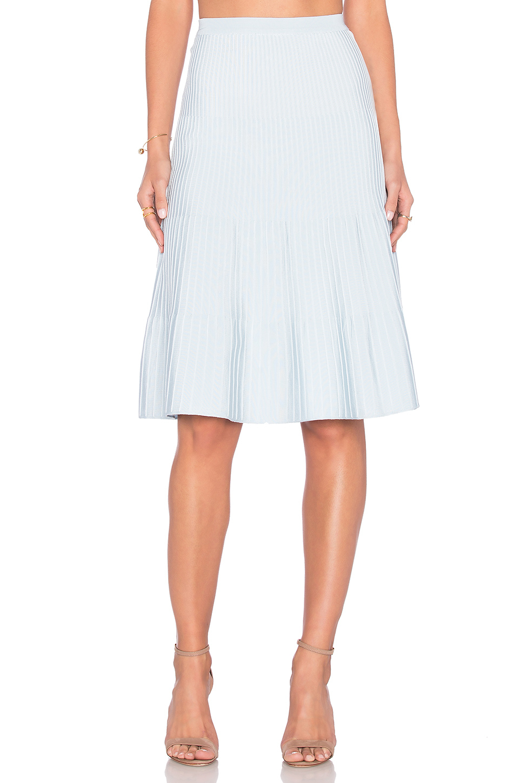 egrey ribbed knit midi skirt in blue lyst