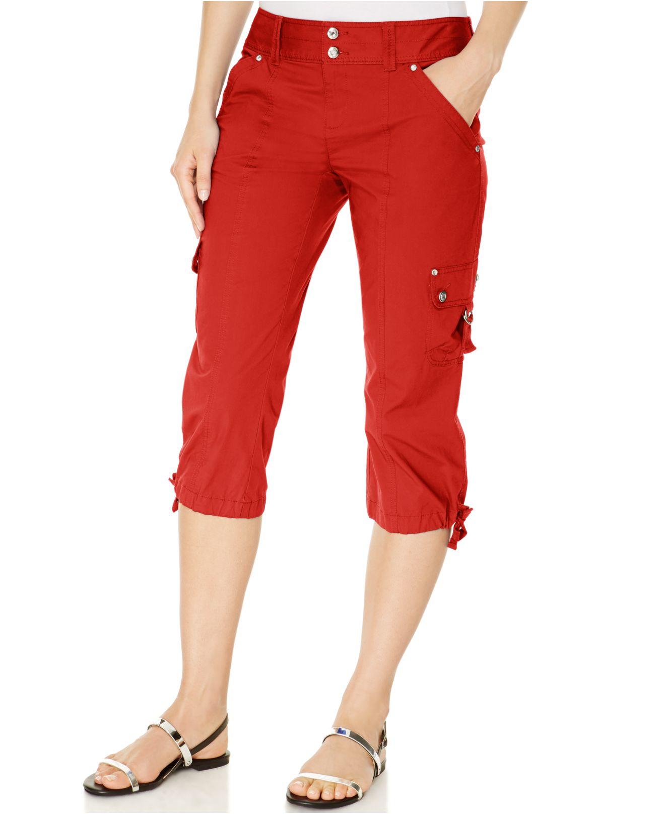 Innovative StyleampCo Style Amp Co Petite Cargo Capri Pants  ShopStylecouk Women