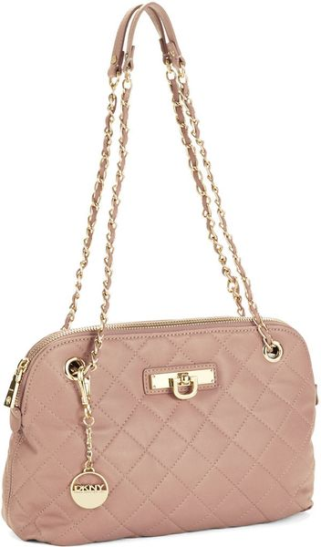 Dkny Quilted Leather Bag In Pink Lavender Lyst