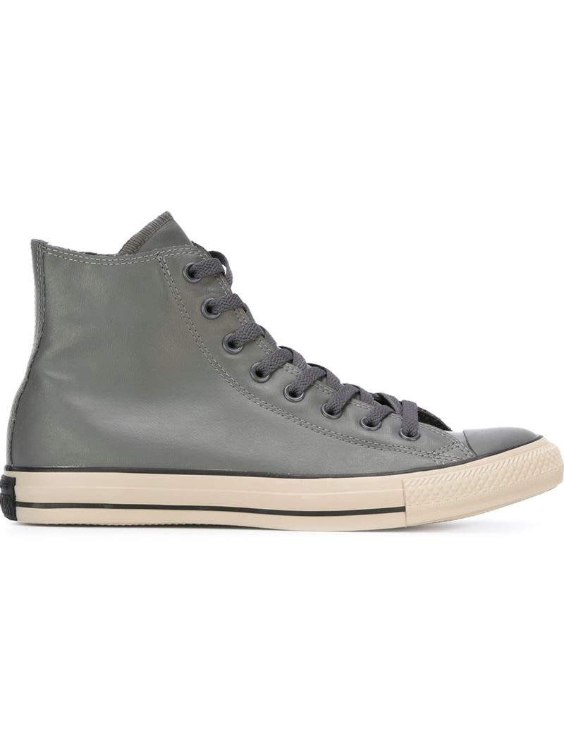55d16c3ae801 Lyst - Converse Rubber High-Top Sneakers in Gray for Men