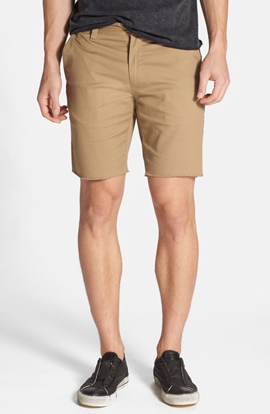 Brixton 'toil Ii' Cutoff Chino Shorts in Natural for Men | Lyst