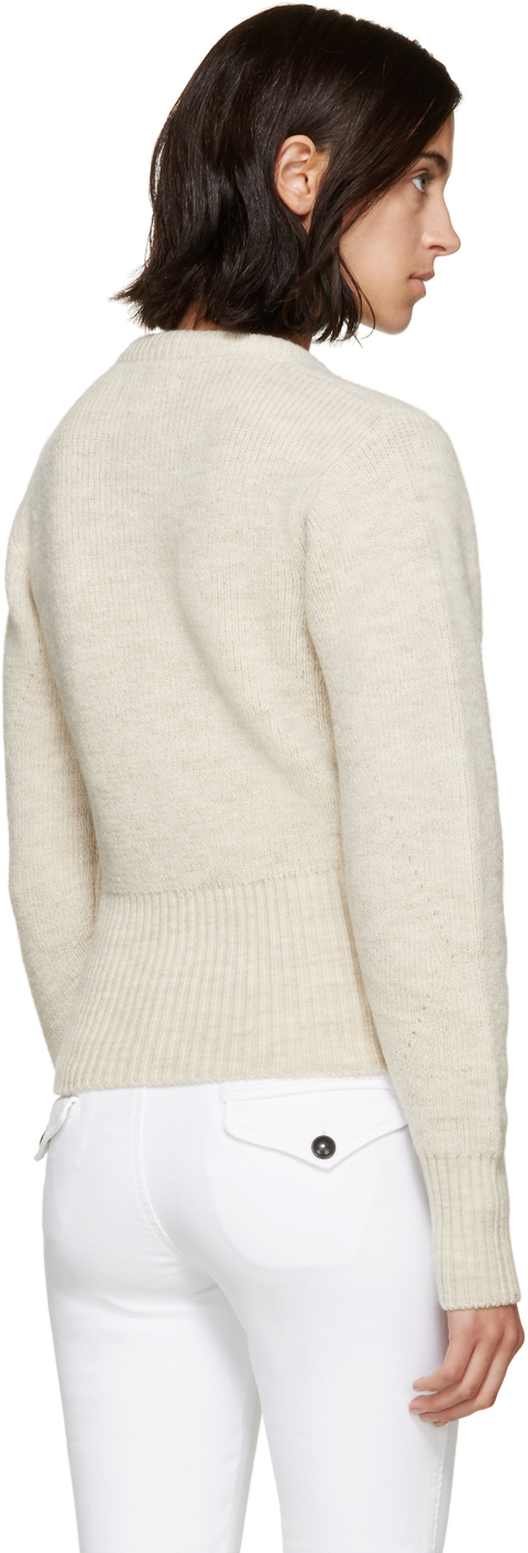 a5b5ef82be Lyst - Isabel Marant Beige Lace-up Charley Sweater in Natural