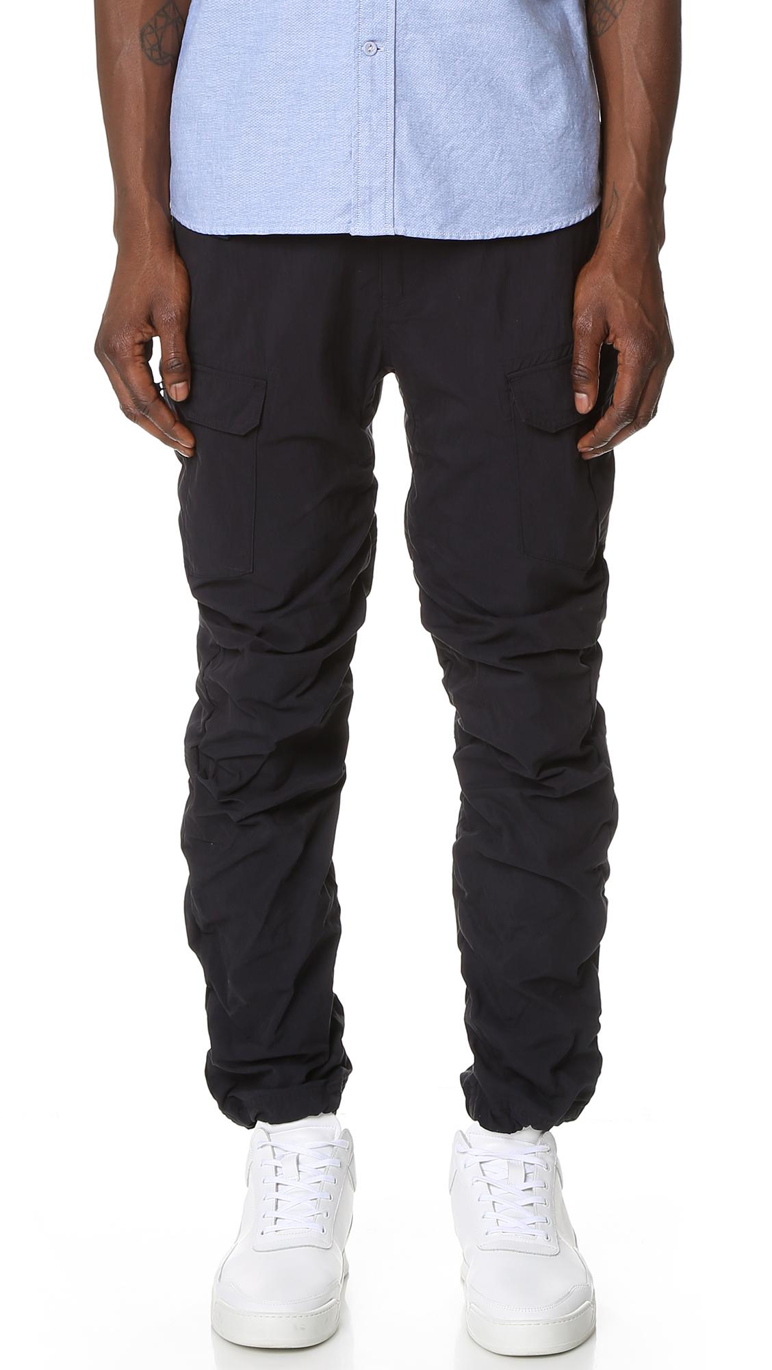 Cotton Nylon Cargo Pants 120