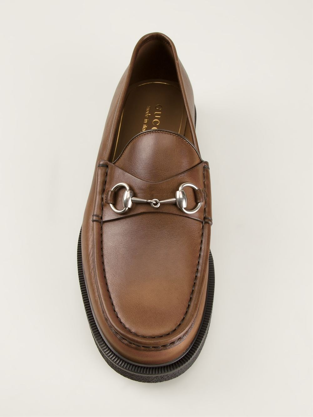 Gucci Horse Bit Buckle Loafers In Brown For Men Lyst