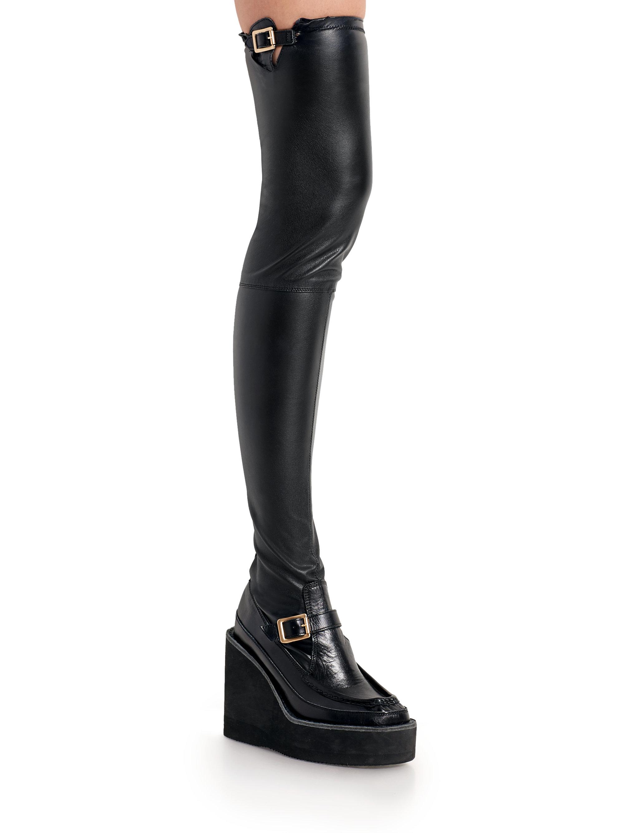 SACAI Black Long Boots Obtenir Authentique Livraison Gratuite Moins Cher OajrJh