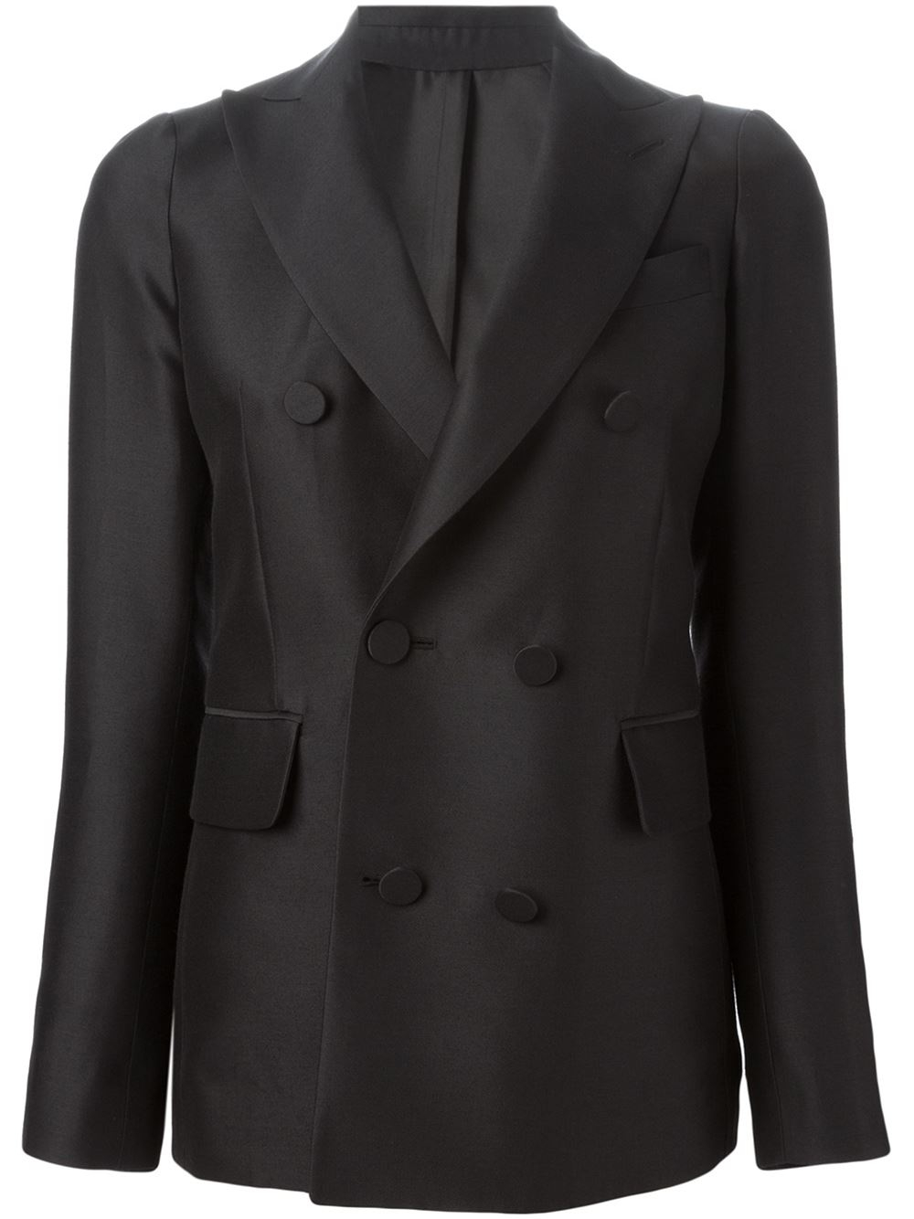 Dsquared² Double Breasted Blazer in Black