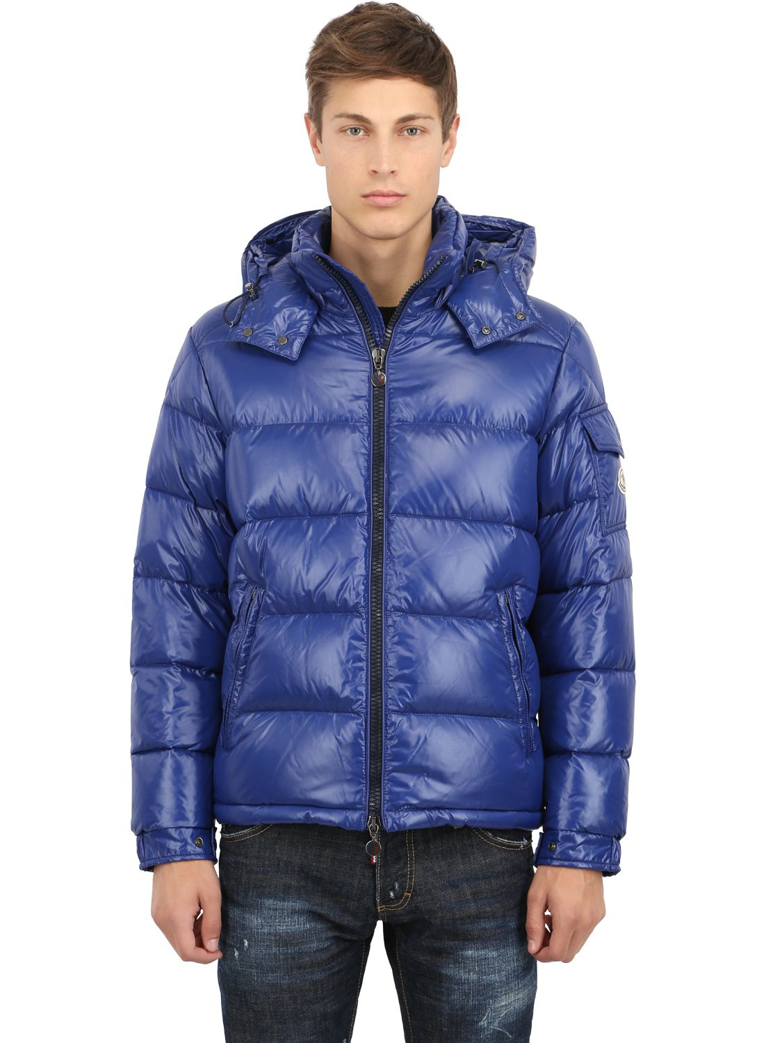 moncler mens down jackets navy blue -