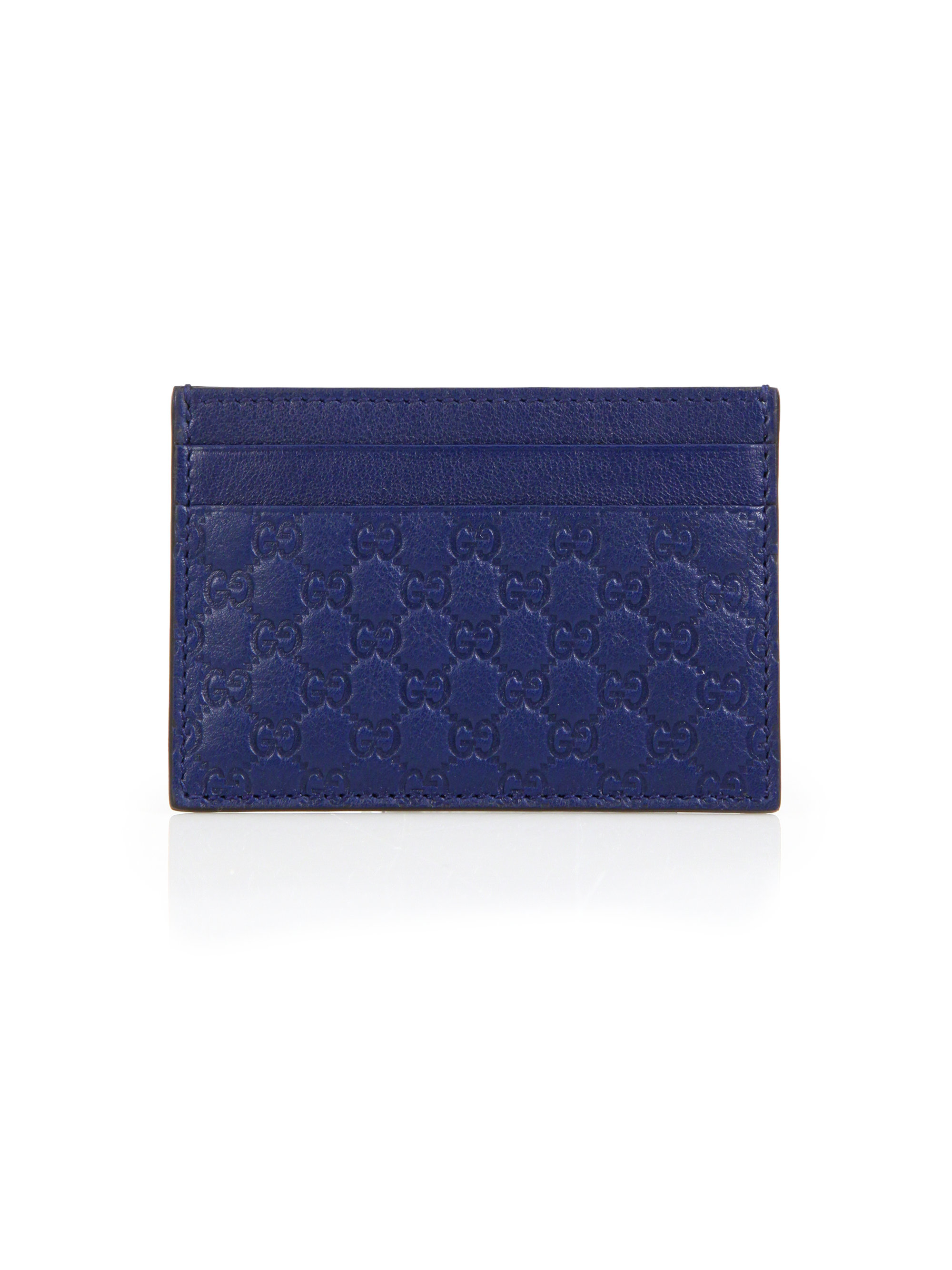 a691ea5d77a7 Gucci Microssima Leather Money Clip in Blue for Men - Lyst