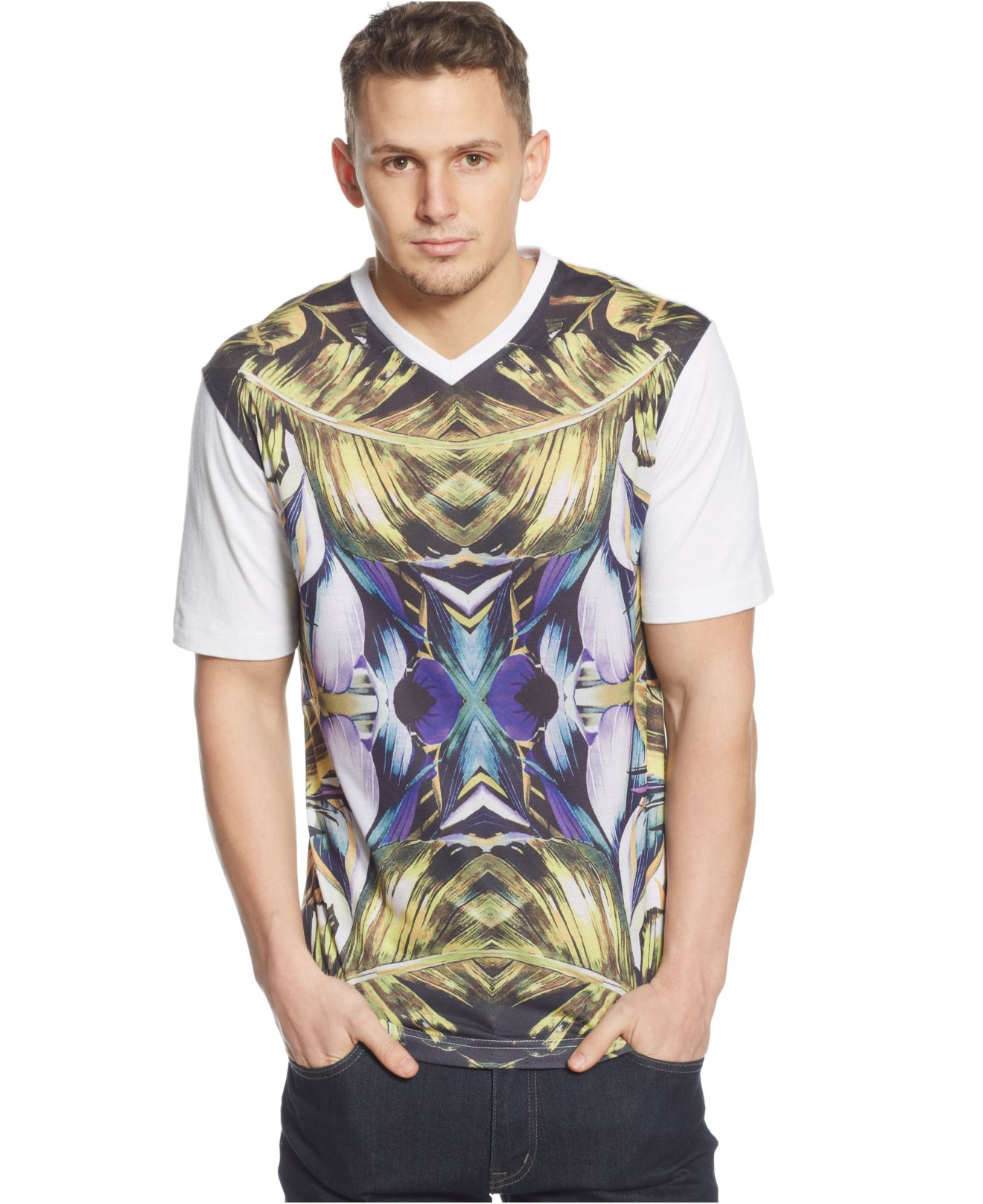 Lyst sean john big tall paradise palm t shirt for men for Sean john t shirts for mens