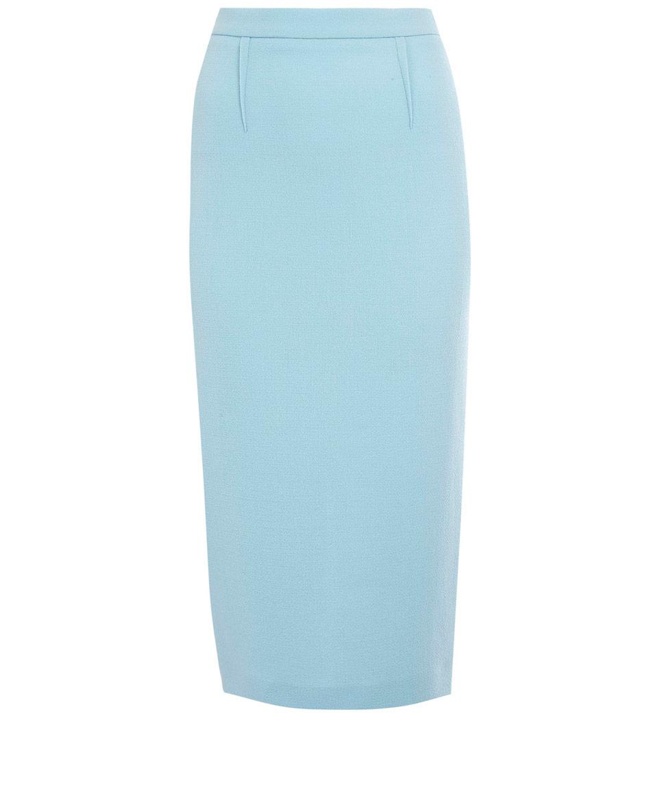 lyst roland mouret light blue arreton crepe pencil skirt