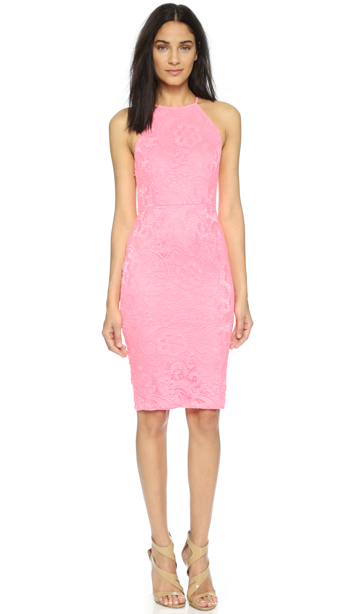 Yumi Kim Save The Date Lace Dress Light Pink In Pink Lyst