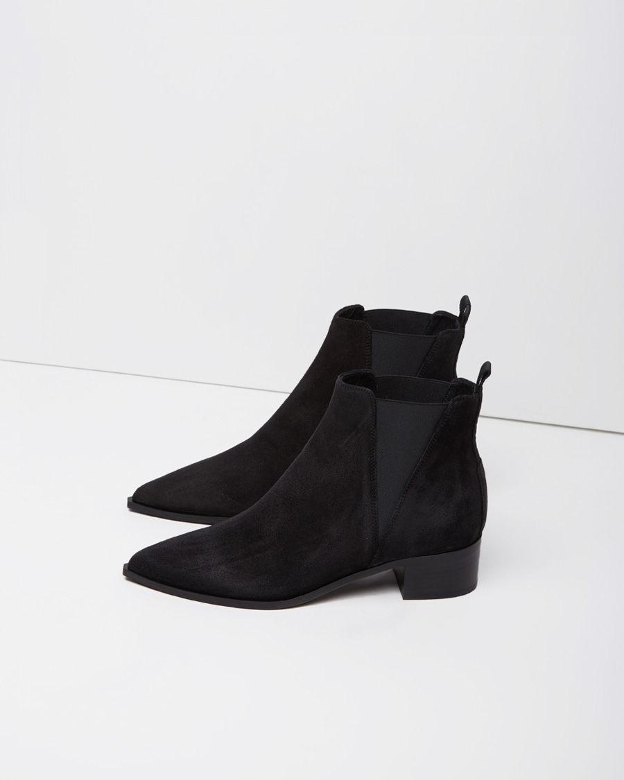 acne studios jensen suede ankle boot in black lyst. Black Bedroom Furniture Sets. Home Design Ideas
