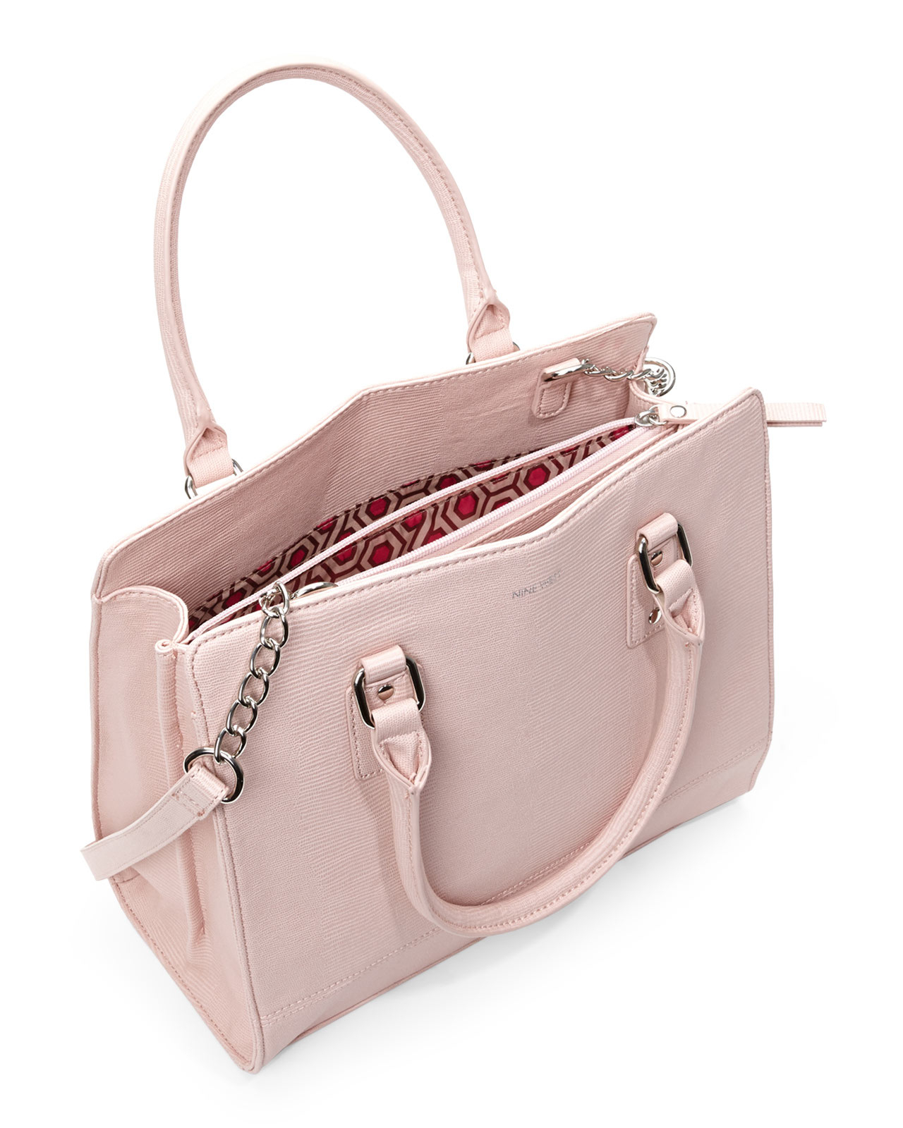 b989805fd92 Nine West Pink Peach Rose You And Me Satchel