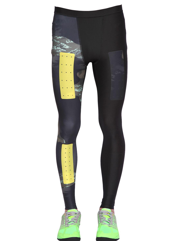 Reebok Cross Fit Compression Stretch Leggings For Men Lyst