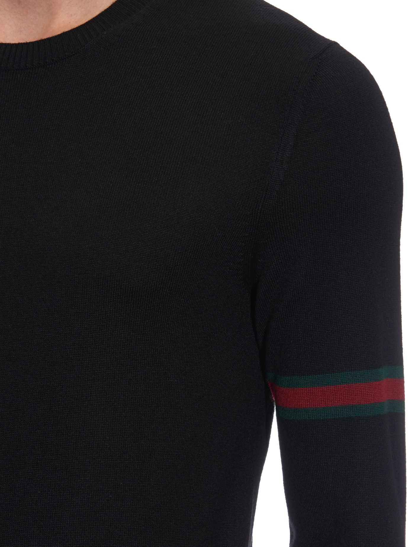 bc270a418105dc Lyst - Gucci Crew-Neck Wool-Knit Sweater in Black for Men