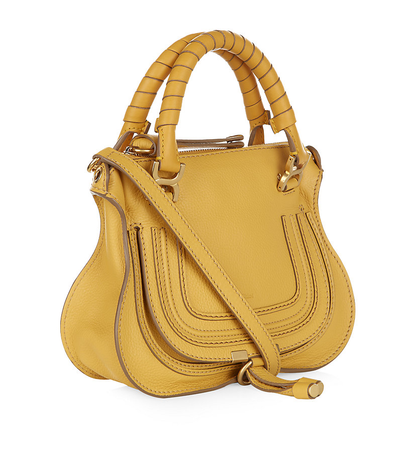 Chlo¨¦ Mini Marcie Shoulder Bag in Yellow (Sunray Yellow) | Lyst