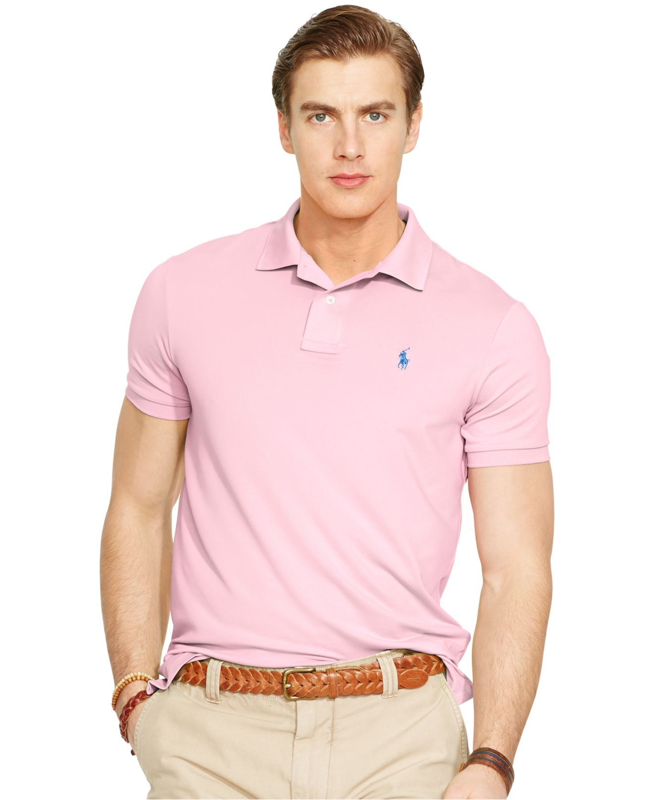 39caeae61129c ... best lyst polo ralph lauren performance jersey polo shirt in pink for  men d7b54 ee1b9