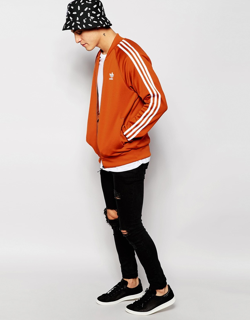 Lyst Adidas Originals Superstar Track Track Superstar Jacket in Orange for Men b25099