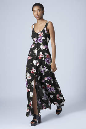Topshop Floral Print Maxi Dress By Band Of Gypsies In