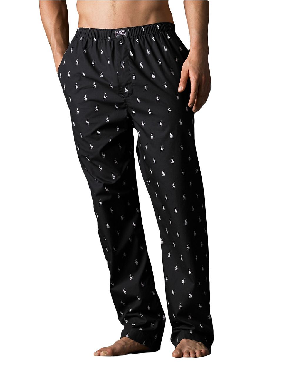 Lastest Polo Ralph Lauren Satin Tuxedo Jogger Pants In Black  Lyst