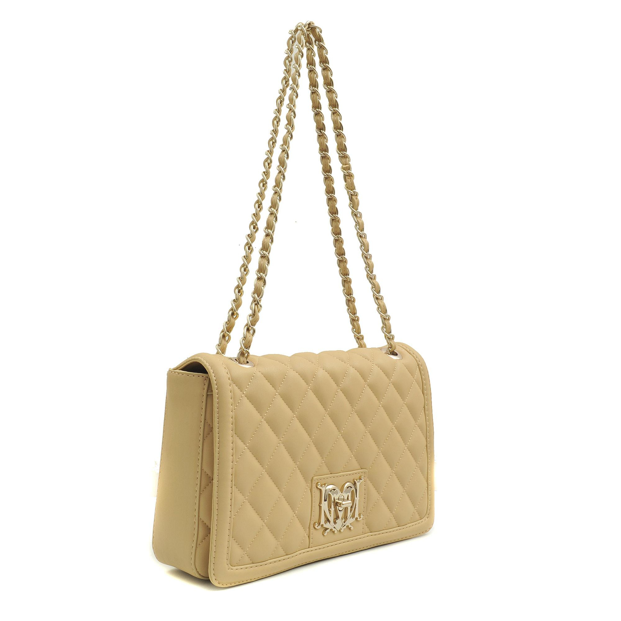 53dd4948fc8e2 Love Moschino Super Quilted Flap Bag In Natural Lyst