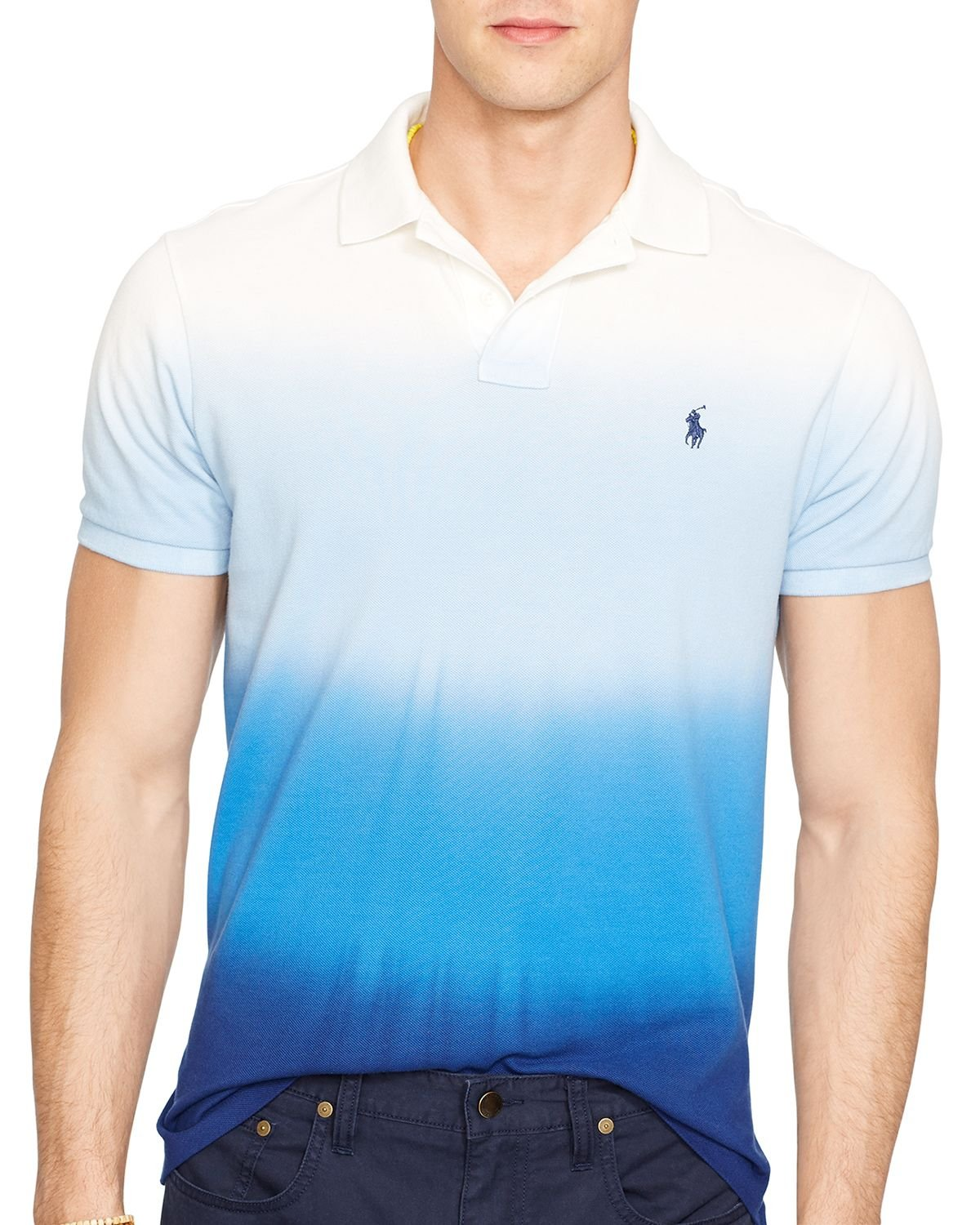 Lyst Ralph Lauren Polo Custom Fit Dip Dyed Polo Shirt