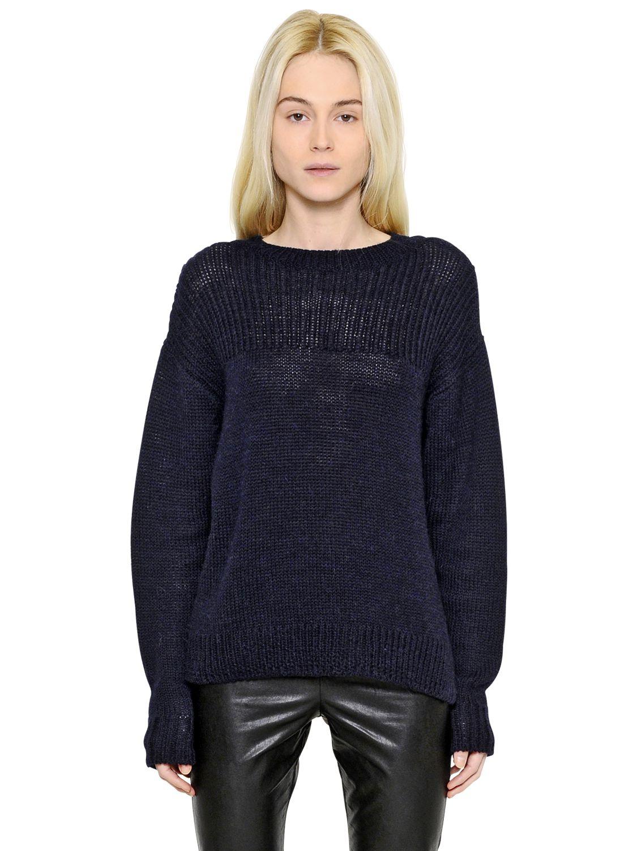 toile isabel marant wool alpaca blend sweater in blue. Black Bedroom Furniture Sets. Home Design Ideas
